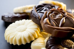 Chocolate Flower Bags